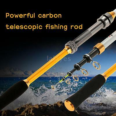 NEW Superhard Carbon Telescopic Casting Sea Fishing Rods Saltwater 6 Sizes H7R9