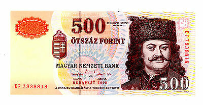 Hungary … P-179a … 500 Forint … 1998 … *UNC*