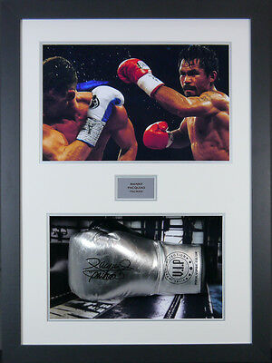 Manny Pacquiao Signed Boxing Glove Framed 3D Display