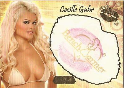 "Benchwarmer 2007 Gold Edition - 3 of 24 ""Cecille Gahr"" Kiss Card"