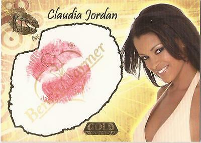 "Benchwarmer 2007 Gold Edition - 23 of 24 ""Claudia Jordan"" Kiss Card"