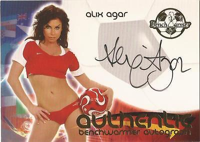 "Benchwarmer 2006 World Cup -  #21 of 30 ""Alix Agar"" Auto / Autograph Card"