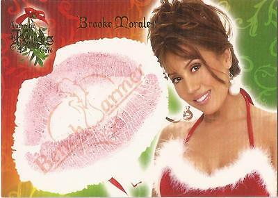"Benchwarmer 2006 Holiday Series - 9 of 10 ""Brooke Morales"" Kiss Card"