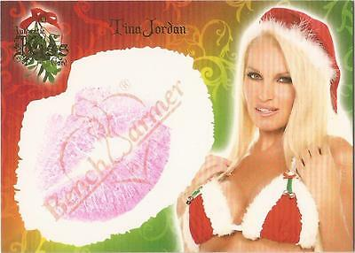 "Benchwarmer 2006 Holiday Series - 6 of 10 ""Tina Jordan"" Kiss Card"