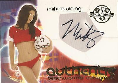"Benchwarmer 2006 World Cup -  #12 of 30 ""Miki Twining"" Auto / Autograph Card"