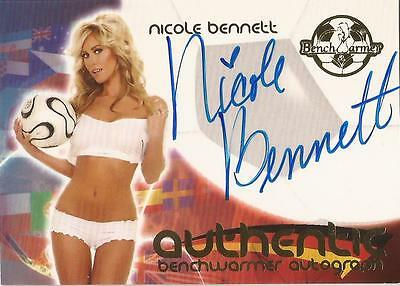 "Benchwarmer 2006 World Cup -  #26 of 30 ""Nicole Bennett"" Auto / Autograph Card"