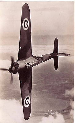 Pre-Ww2 Raf Aircraft Fairey Fulmar B&w Rp Real Photographs Postcard