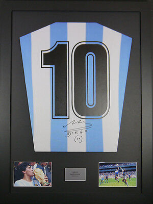 Diego Maradona Argentina Signed Shirt  Display With Coa 50% Off Sale