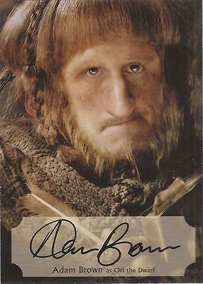 The Hobbit Desolation of Smaug - AB-P Adam Brown Poster Autograph Card #53/75
