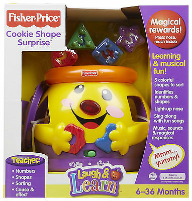 Fisher Price Laugh & Learn Cookie Shape Surprise Number Shape Colour Sorter Toy