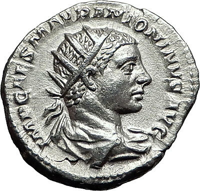 Elagabalus  218AD Silver Authentic Ancient Roman Coin Roma Cult Rare  i57970