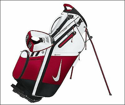 Nike Golf Air Hybrid Carry Stand Bag White Red Black 14-Way Divider NEW