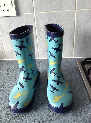 Wellington Boots With Planes & Helicopters Size 13