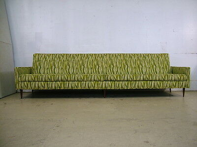 VTG 9ft Retro Mid Century URBAN Low Lines Floating Sofa Couch Danish Modern