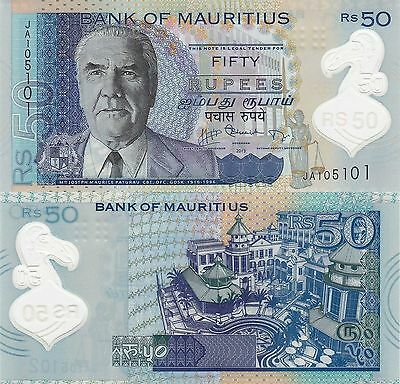 Mauritius 50 Rupees (2013) - p65/Polymer UNC