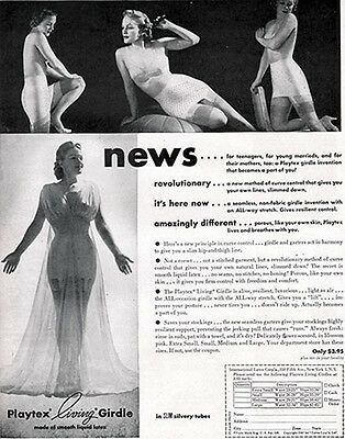 Playtex Living Girdle LIQUID LATEX For Teenagers, Young Marrieds 1947 PRINT AD