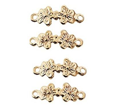 Dollhouse Miniature Gold Plated Brass Double Flower Drawer Pull