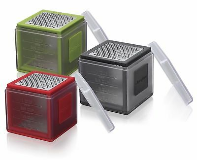 Microplane Cube Grater - Multi Grater & Measuring Tool - 3 Blades - Green/Black