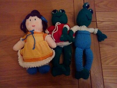 Joblot small hand knitted toys