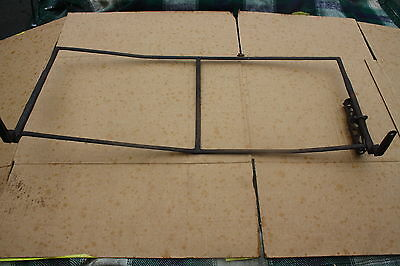 Antique horse carriage foot board with crop holder. Forged iron. Very nice