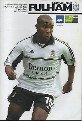 FULHAM v LUTON TOWN 11.12.99 F.A.CUP