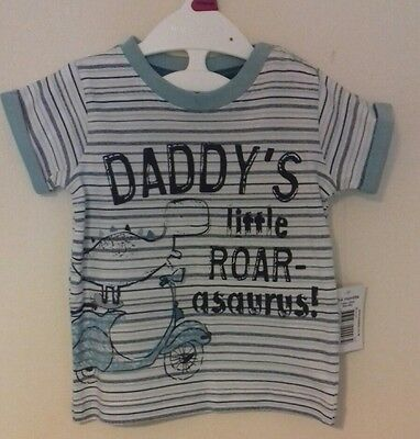 Gorgeous Dinosaur Baby Boy T.shirt. Size 3-6 months. Brand new with tags