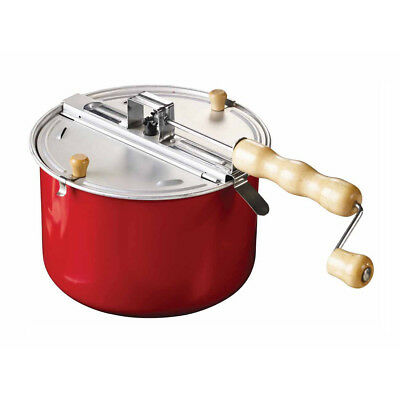 Eddingtons Traditional Stove-top Popcorn Maker - Popcorn Popper Red