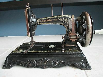 Original Antique sewing machine J.Silberg Hengstenberg Mothers Help Improved