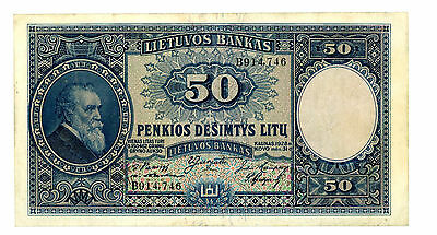 Lithuania … P-24 … 50 Litu … 1928 … *VF-XF*