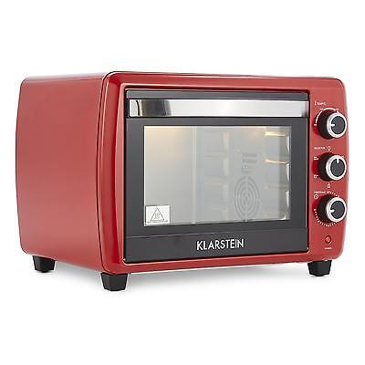 Mini Kitchen Electric Oven Small Red 1500 W 30 Litre Rotisserie Spit Grill Bake
