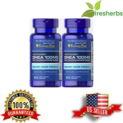Dhea 100 Mg Boost Kindney & Liver Function Health Diet Supplement 120 Capsules