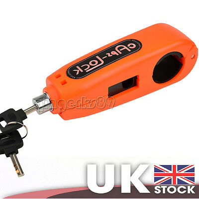 Motorcycle Motrbike Scooter Handlebar Throttle Crip-Lock Security Lock Orange