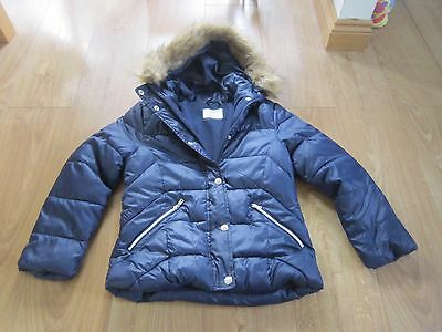 Zara Girls Navy Outerwear Collection Padded Coat Age 11 - 12  VGC