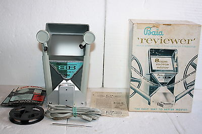 Vintage 1960's Baia 8mm Reviewer & Editor Easy Slip-in Loading W/ Original Box