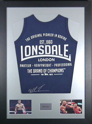 Mike Tyson Lonsdale Signed Boxing Vest Display With Coa 50% Off Sale