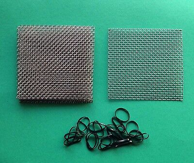 12 pads 5cm x 5cm Aquarium Fish Tank Plants  Moss Stainless Steel 316 Wire Mesh