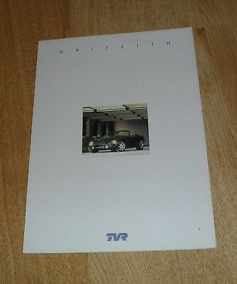 UK TVR Griffith 500 Brochure 1999