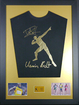 Usain Bolt Signed Shirt Display With Coa 50% Off Sale