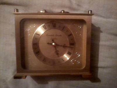 London Eurastyle Brass Carrige Mantle Clock Excellent Time Keeper!