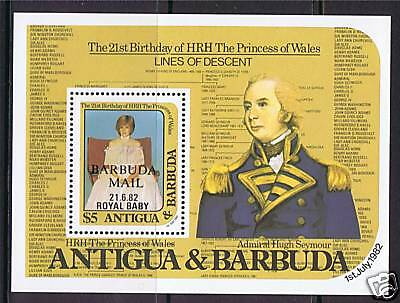 Barbuda 1982 Birth of Prince William SG MS635 MNH