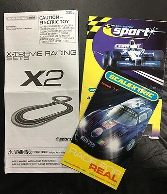 SCALEXTRIC X-TREME RACING SET with 6 Cars & Accessories!