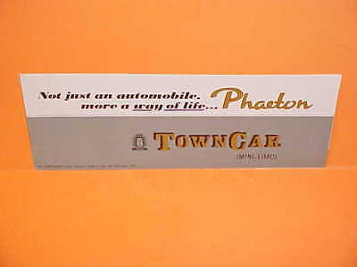 1973 Lincoln Continental Phaeton Town Car Limo Brochure