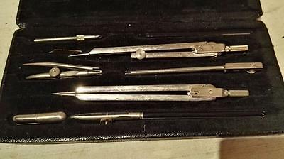 Fine Vintage Set Of Anker Precision  Drawing Instruments