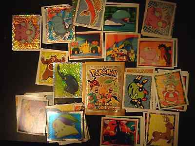 Pokemon Stickers Merlin 2001 Complete Set Of 126 Near Mint Condition