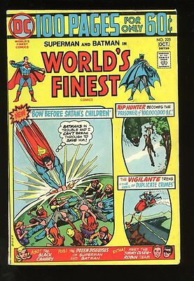Worlds Fines Comics #225 Very Good / Fine 100 Pages 1974 Dc Comics
