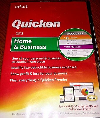 Brand New Intuit Quicken Home And Business 2013 Windows