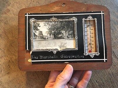 Vintage Marshalls Chiropractors Windmill Engraved Advertising Thermometer