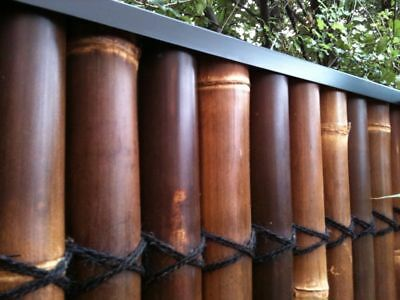 BAMBOO FENCE PANEL PROTECTIVE CAPPING IN 3.0m LENGTHS. SUPERIOR STEEL CAPPING!!
