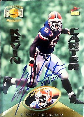 Kevin Carter Autographed 1995 Signature Rookies Card No.R28