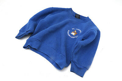 Girls Screen Stars Jumper Age 3-4 Sweatshirt Blue St Josephs Kindergartan